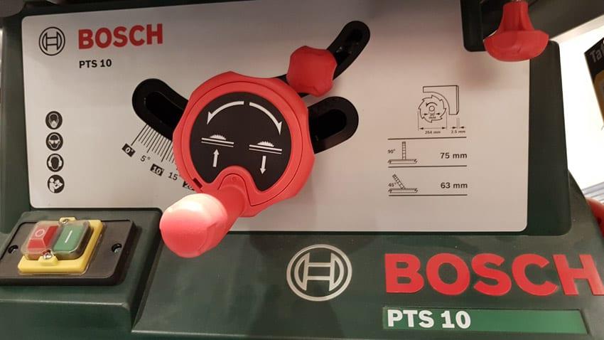Bedienbarkeit der Bosch Tischkreissäge PTS 10